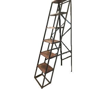Vintage Metal & Wood Ladder