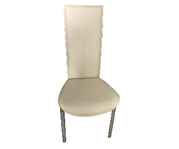 White High Back Dining Chairs