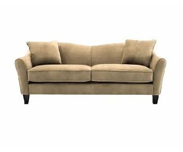Raymour & Flanigan Microsuede 2 Seater Sofa