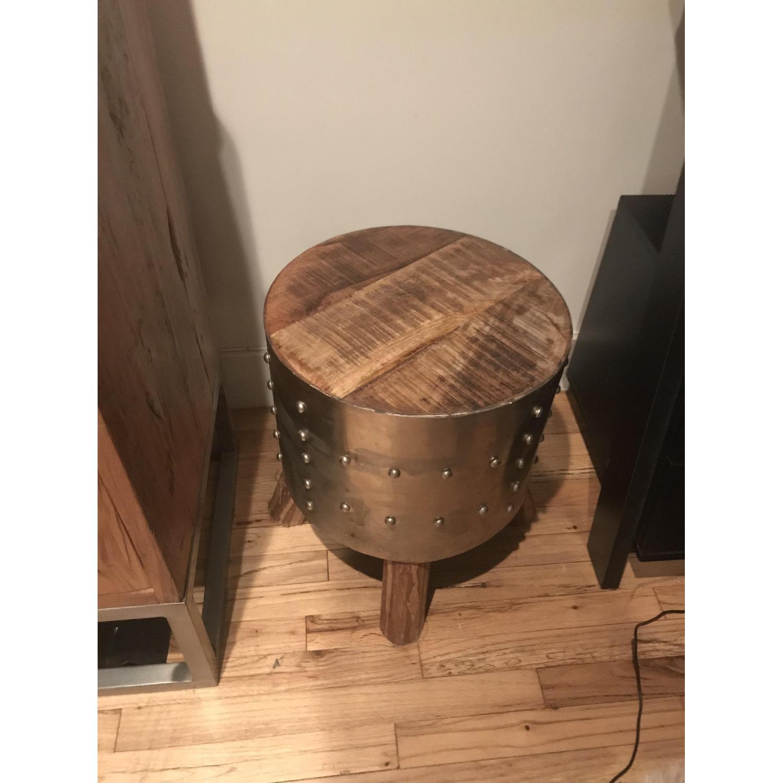 ... Iron U0026 Wood Side Table 0 ...