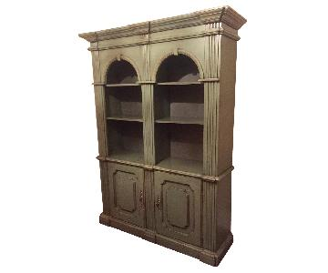 Vintage Green Solid Wood Bookcase