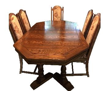 Huffman Koos Traditional Wood 7-Piece Expandable Dining Set