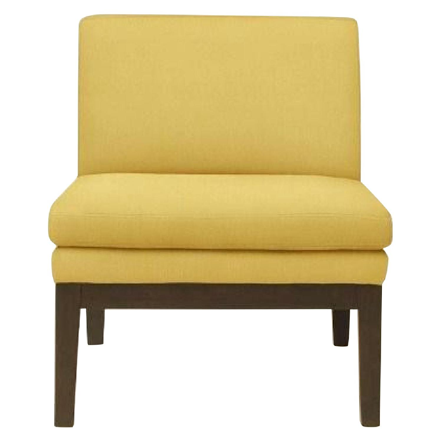 West Elm Yellow Slipper Chair ...
