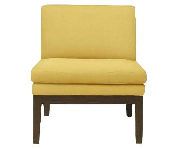 West Elm Yellow Slipper Chair