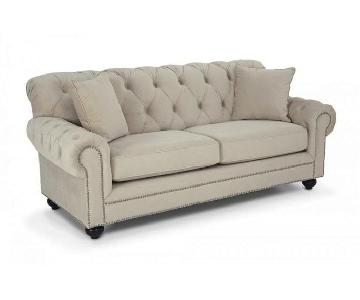 Bob's Victoria Tufted Sofa + Chair