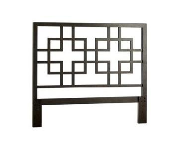 West Elm Queen Overlapping Squares Headboard
