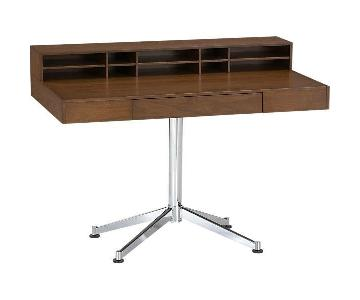 Crate & Barrel Crane Wood & Metal Desk