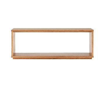 Muji Oak Coffee Table/Bench/Media Unit