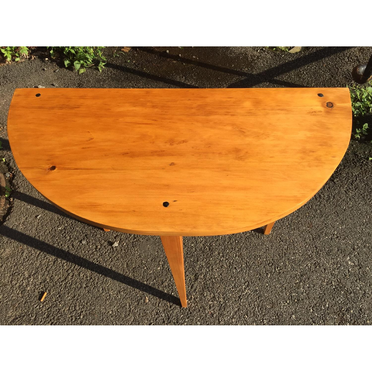Handmade Demilune Table