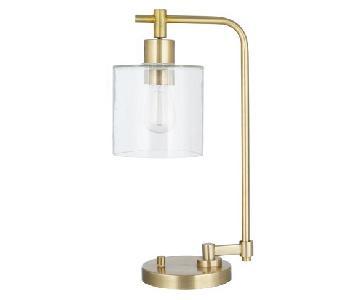 Brass Industrial Desk Lamp w/ Edison Bulb