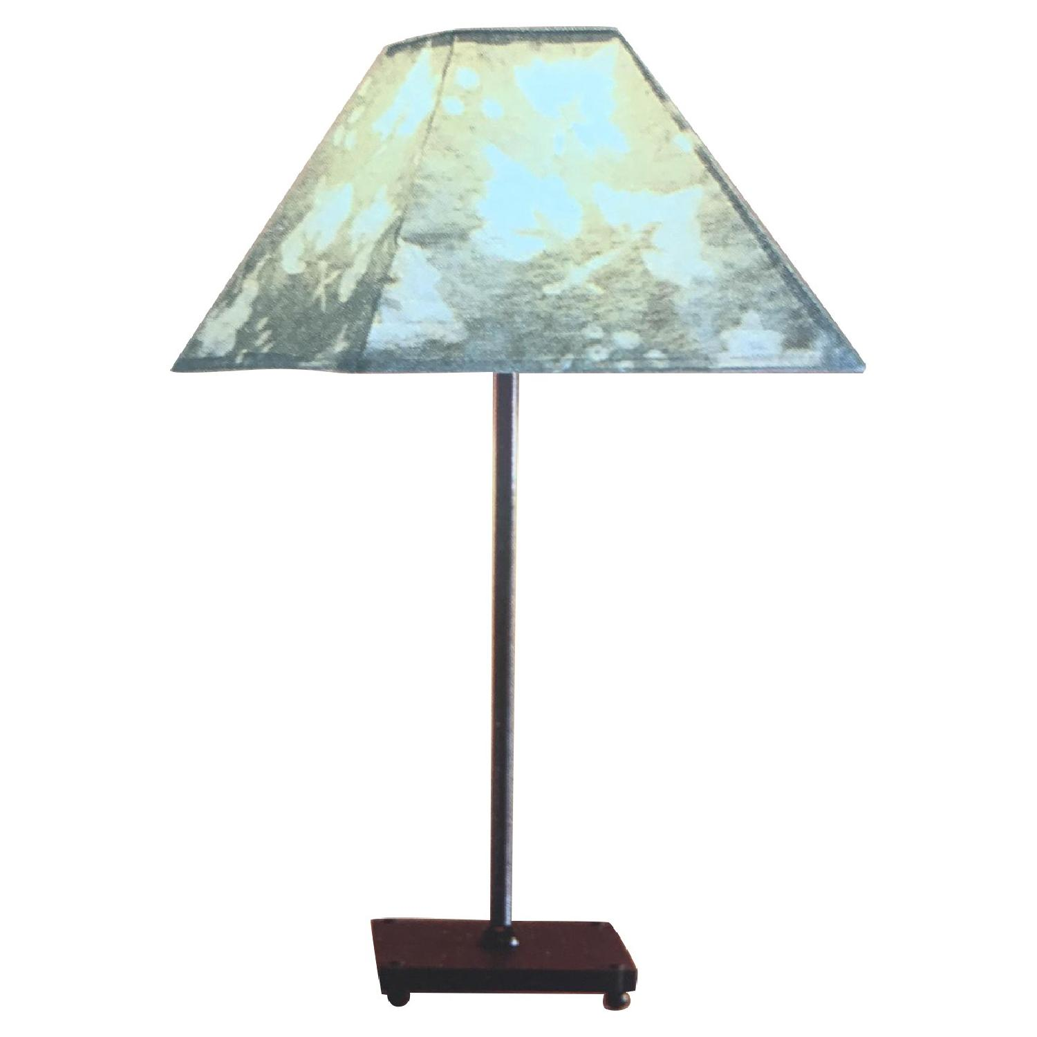 Liz Galbraith Handmade Paper Shade Grape Leaf Table Lamp