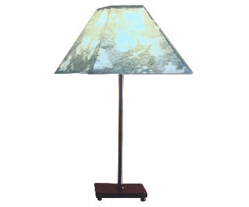 Liz Galbraith Handmade Paper Shade Grape Leaf Table Lamp