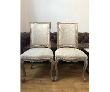 ABC Carpet and Home Upholstered Louis XV Style Dining Chairs