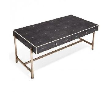 ABC Carpet and Home Iron Shagreen Coffee Table