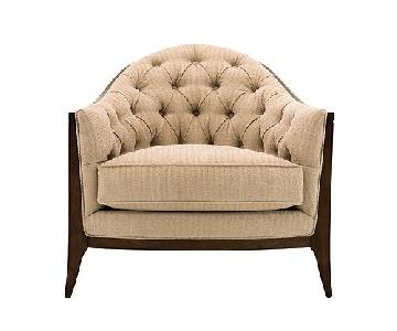 Raymour & Flanigan Maxine Chenille Tufted Armchair