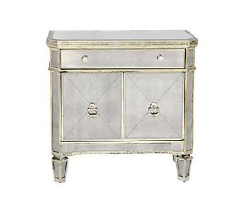 Z Gallerie Mirrored Side Table