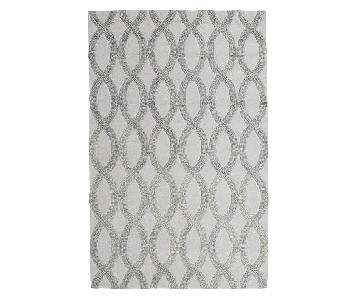 West Elm Linking Loops Wool Area Rug in Frost Gray