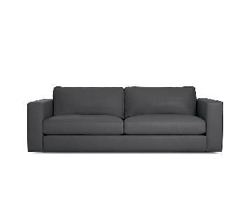Design Within Reach Reid Leather Sofa