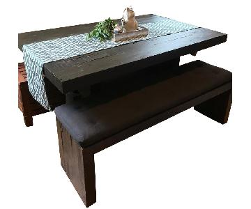West Elm Emmerson Dining Table & Bench w/ 5 Bistro Chairs