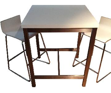 Ikea Utby Bar Table w/ 2 Sebastian Bar Stools