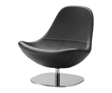 Ikea Tirup Leather Swivel Chair