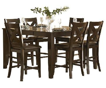 Bob's Cross Hightop Table w/ 6 Chairs