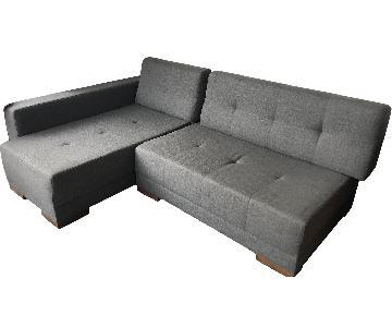 Lazzoni Biblio 2 Piece Sleeper Sectional Sofa
