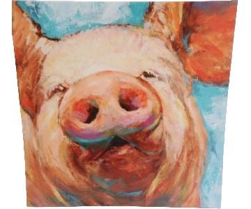 Pig Farm House Canvas Art