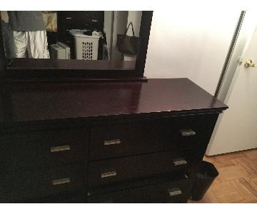 Chestnut Brown Dresser w/ Mirror