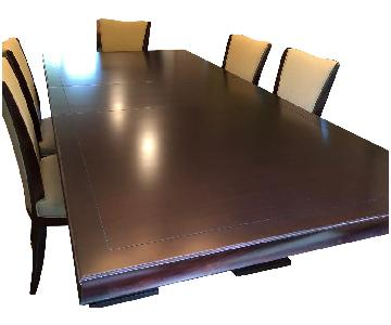 Baker by Barbara Barry Expandable Dining Table w/ 8 Chairs