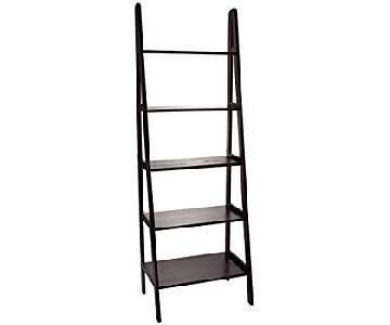Casual Home 5-Shelf Ladder Bookcase in Espresso