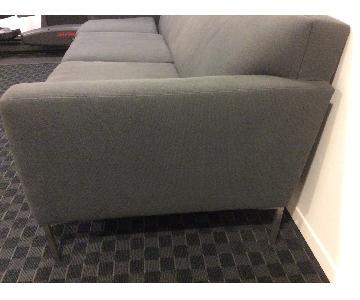 Design Within Reach Gray Cotton Weave Sofa