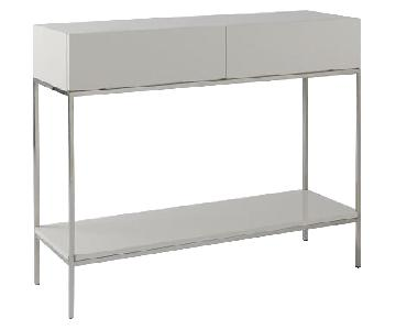 West Elm Storage Console in White Lacquer