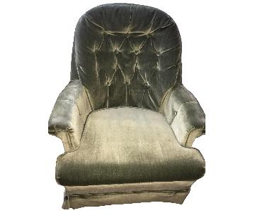 Vintage Tufted Swivel Chair