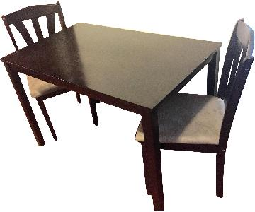 Rectangular Dining Table w/ 2 Padded Chairs