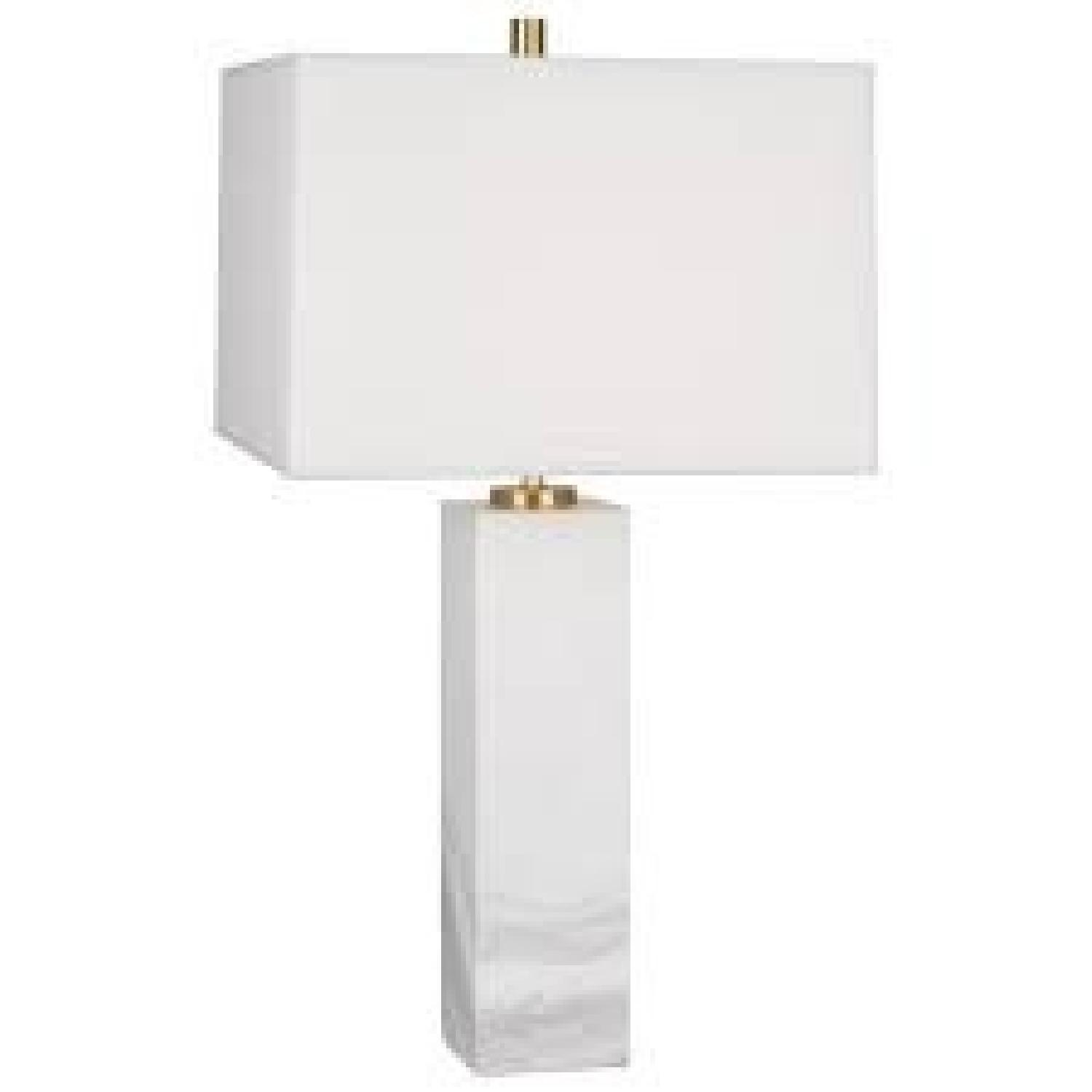Jonathan Adler Tall Canaan Marble Table Lamps