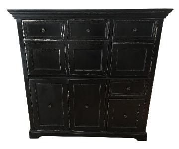 Wood Armoire/Secretary Computer Desk in Black wood