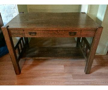 Antique Mission-Style Desk