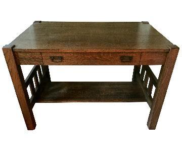 Antique Mission-Style Desk