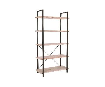 Meredith Etagere Bookcase in Pickled Oak