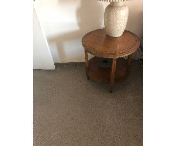 Lane Vintage Round Side Table