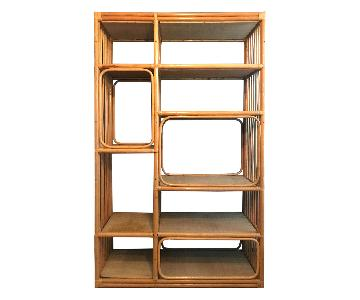 Vintage Bamboo Bookshelf