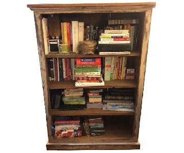 Solid Wood Rustic Antiqued Bookshelf