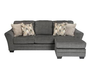 Jennifer Convertibles Bowie Grey Sectional Sofa w/ Chaise