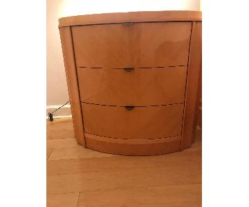 Planum Furniture 3 Drawer Nightstands/Chests in Glossy Maple