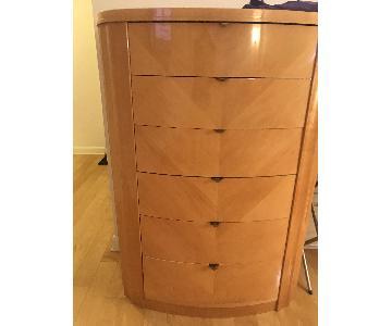 Planum Furniture 6 Drawer Glossy Maple Dresser/Tall Chest