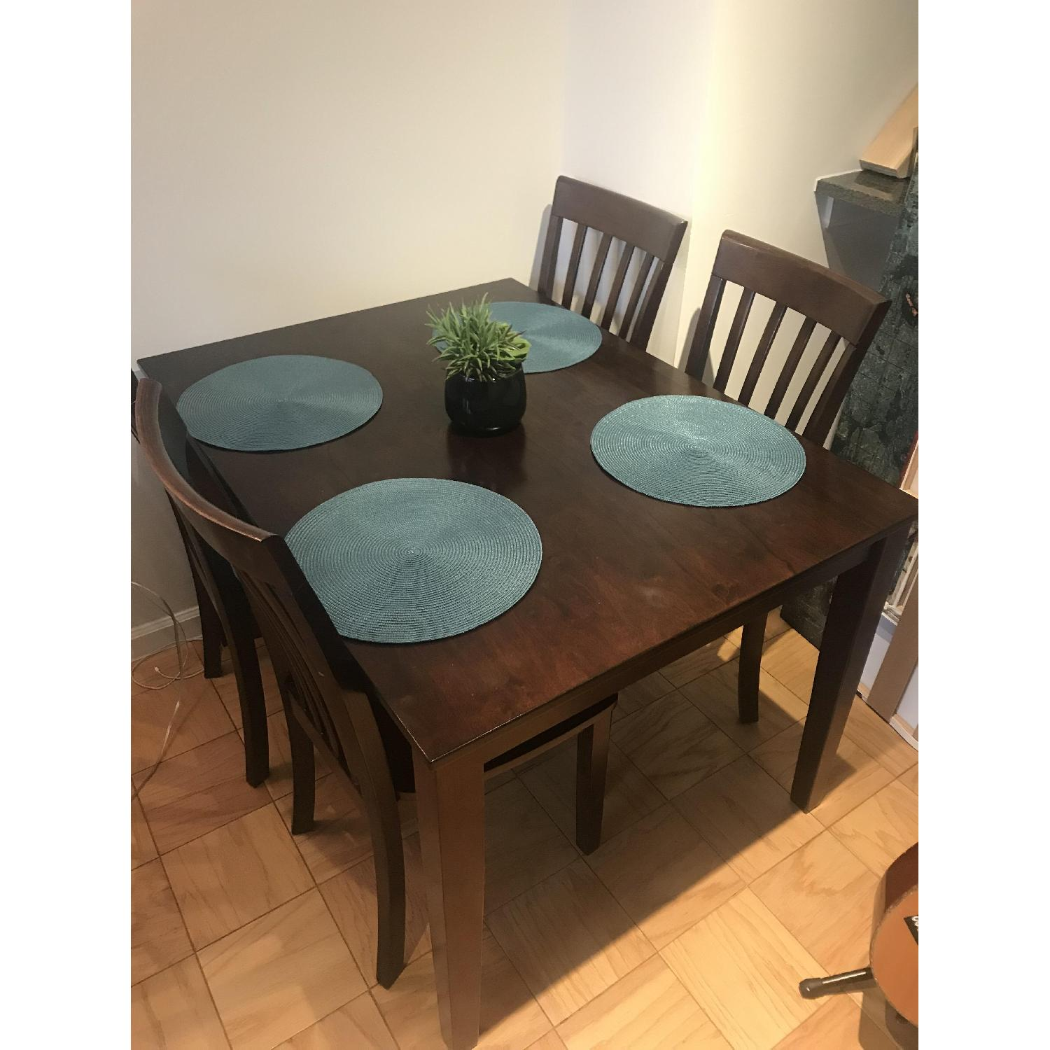 ... Ashley Wooden Dining Table W/ 4 Chairs 0 ...