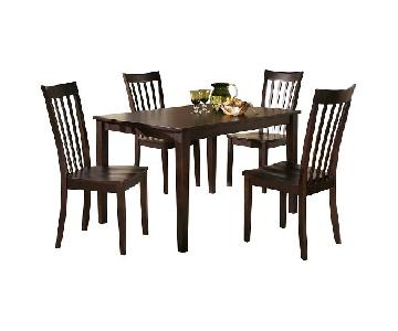 Ashley Wooden Dining Table w/ 4 Chairs