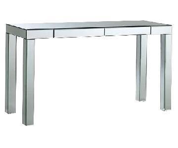 West Elm Mirrored Desk/Vanity w/ 2 Drawers