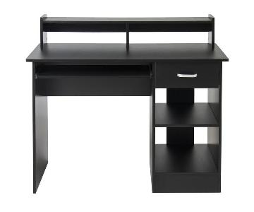 Computer Desk in Black Wood